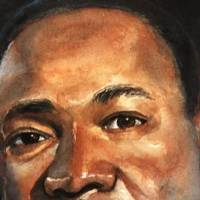 Watercolor painting of Martin Luther King Jr.
